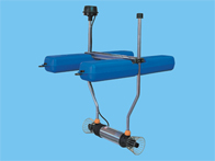 Double submersible aerator
